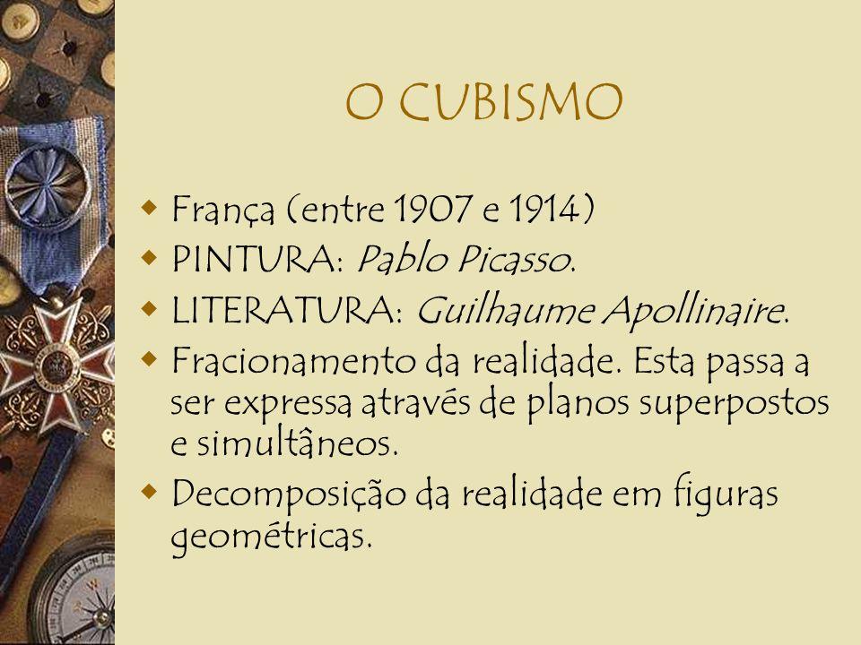 O CUBISMO França (entre 1907 e 1914) PINTURA: Pablo Picasso.