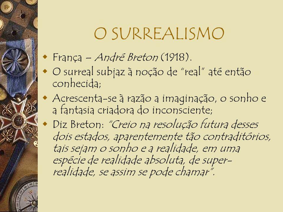 O SURREALISMO França – André Breton (1918).