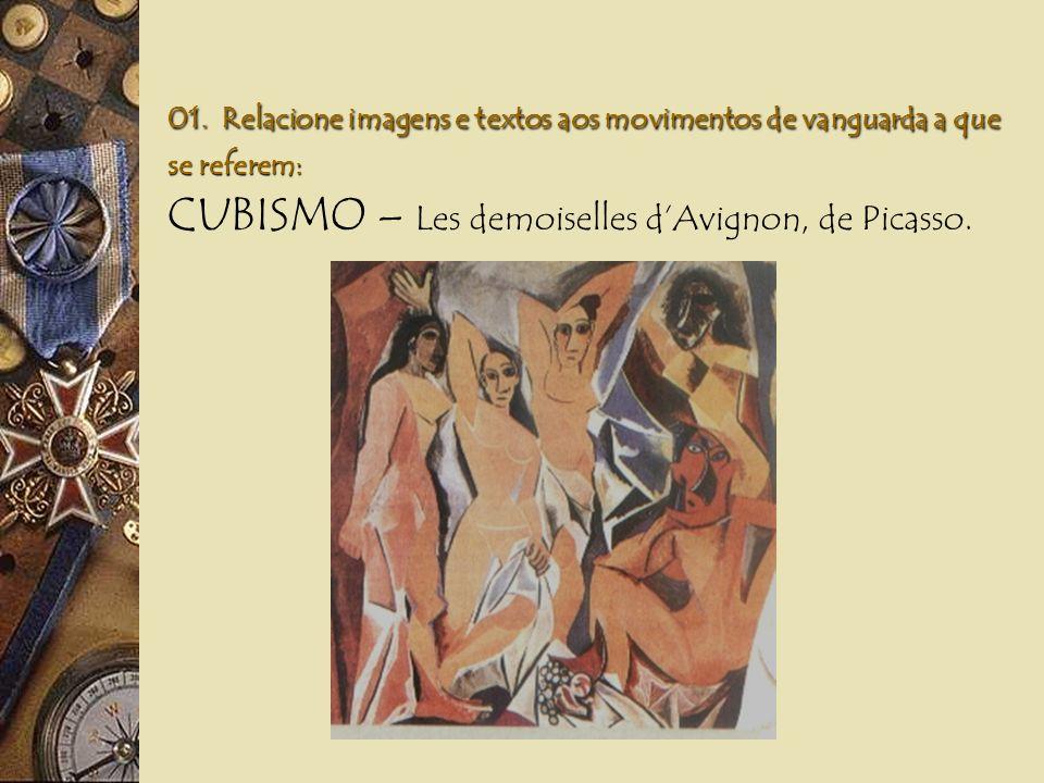 CUBISMO – Les demoiselles d'Avignon, de Picasso.