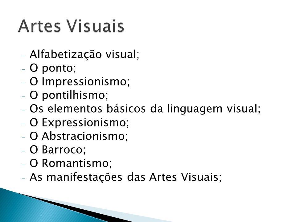 Artes Visuais Alfabetização visual; O ponto; O Impressionismo;