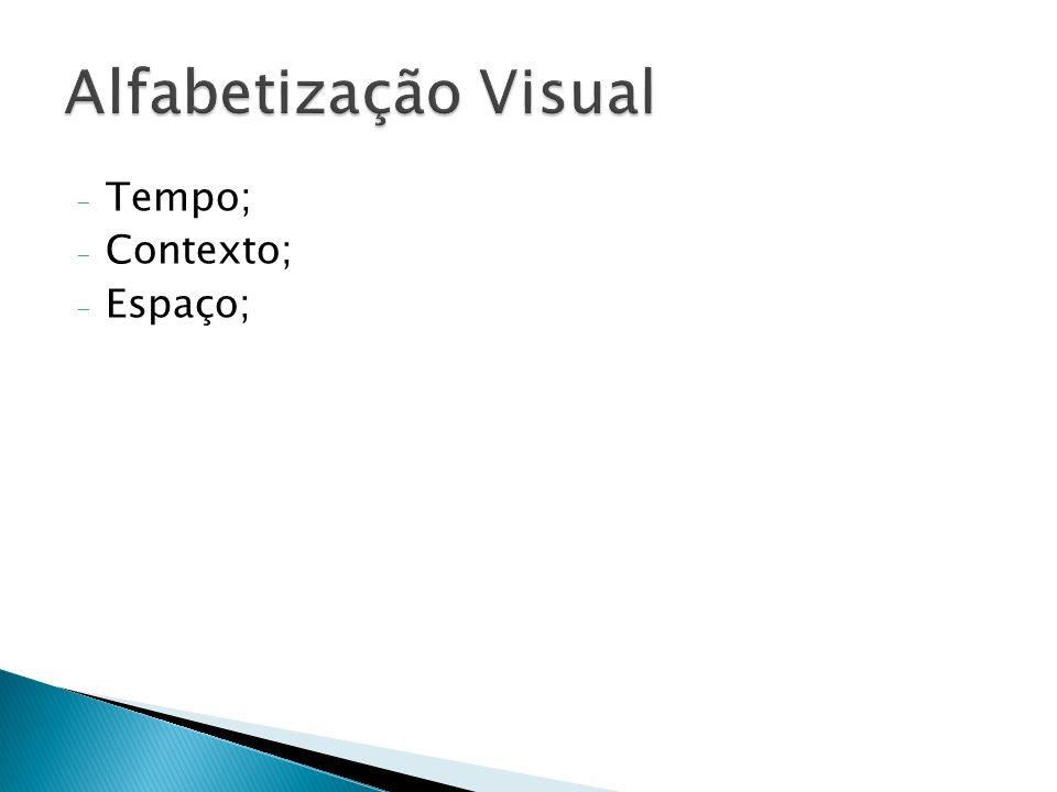 Alfabetização Visual Tempo; Contexto; Espaço;
