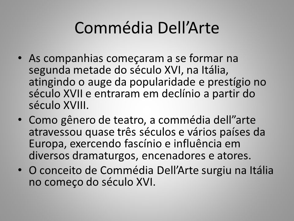 Commédia Dell'Arte