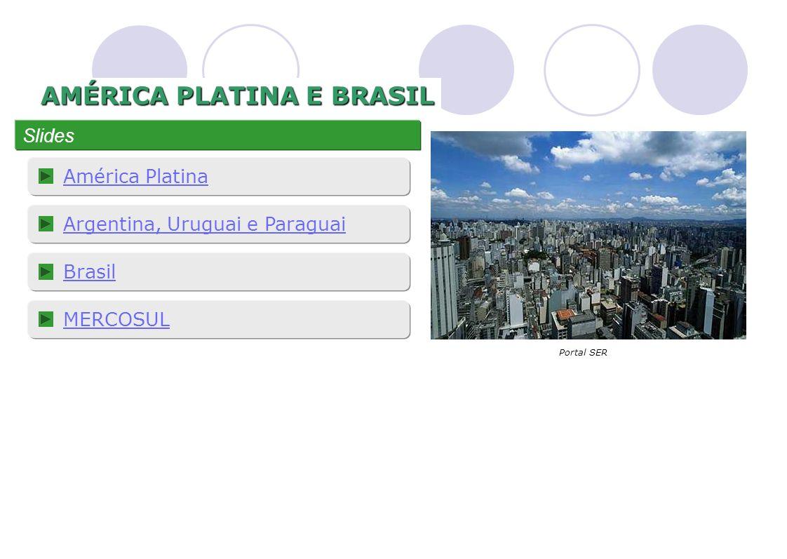 AMÉRICA PLATINA E BRASIL