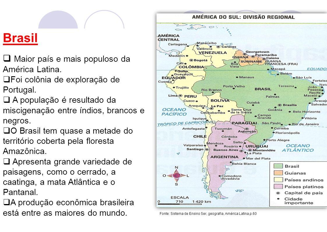 Brasil Maior país e mais populoso da América Latina.