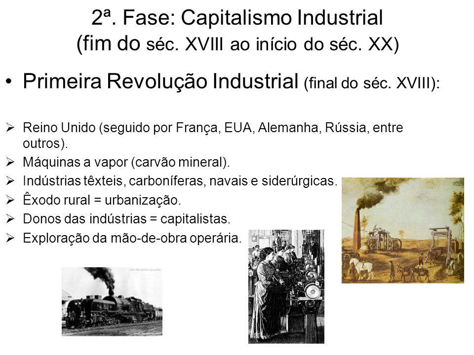 Primeira Revolução Industrial (final do séc. XVIII):