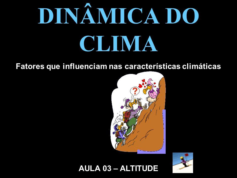 Fatores que influenciam nas características climáticas