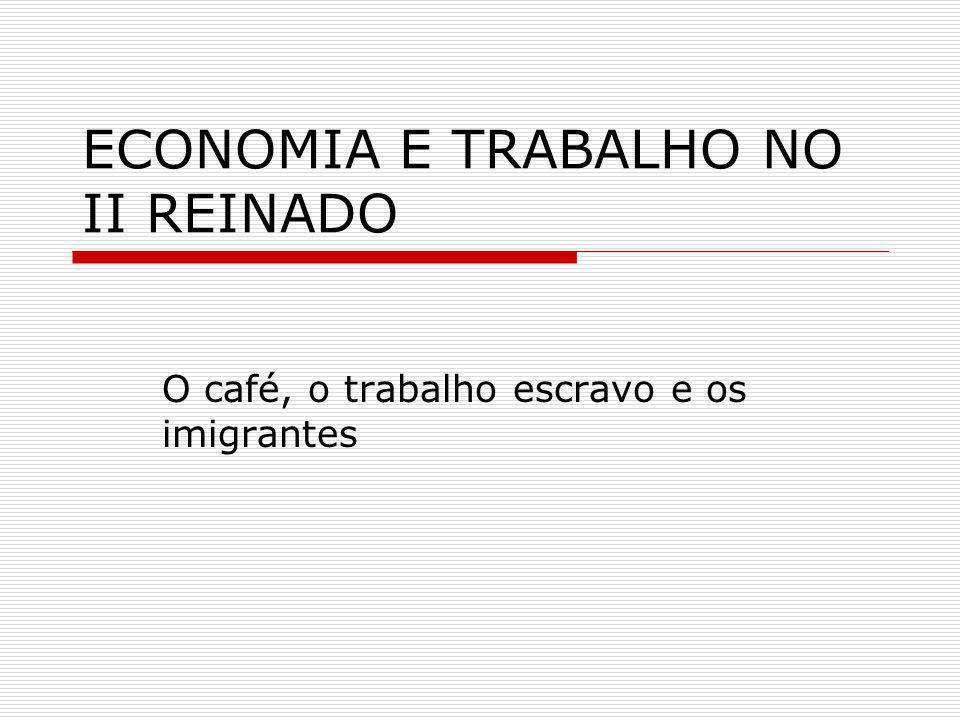 ECONOMIA E TRABALHO NO II REINADO