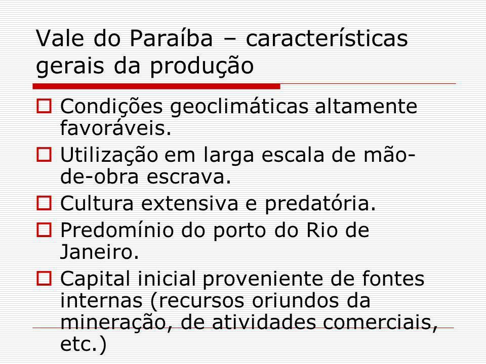 Vale do Paraíba – características gerais da produção
