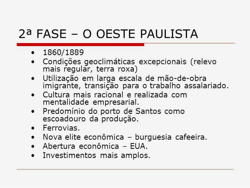 2ª FASE – O OESTE PAULISTA