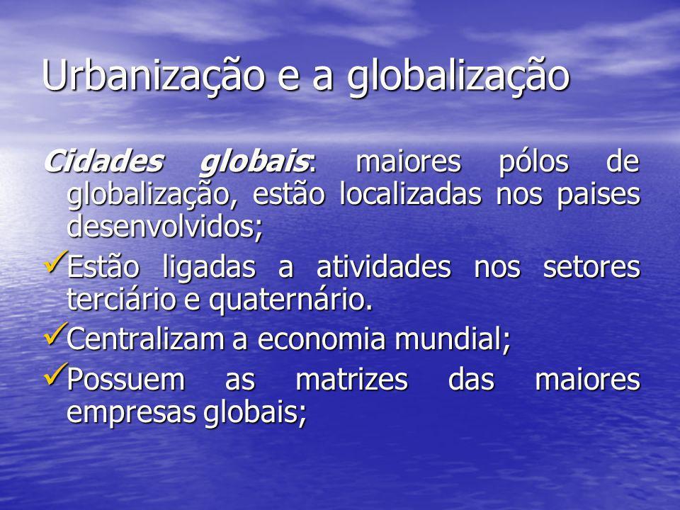 Urbanização e a globalização