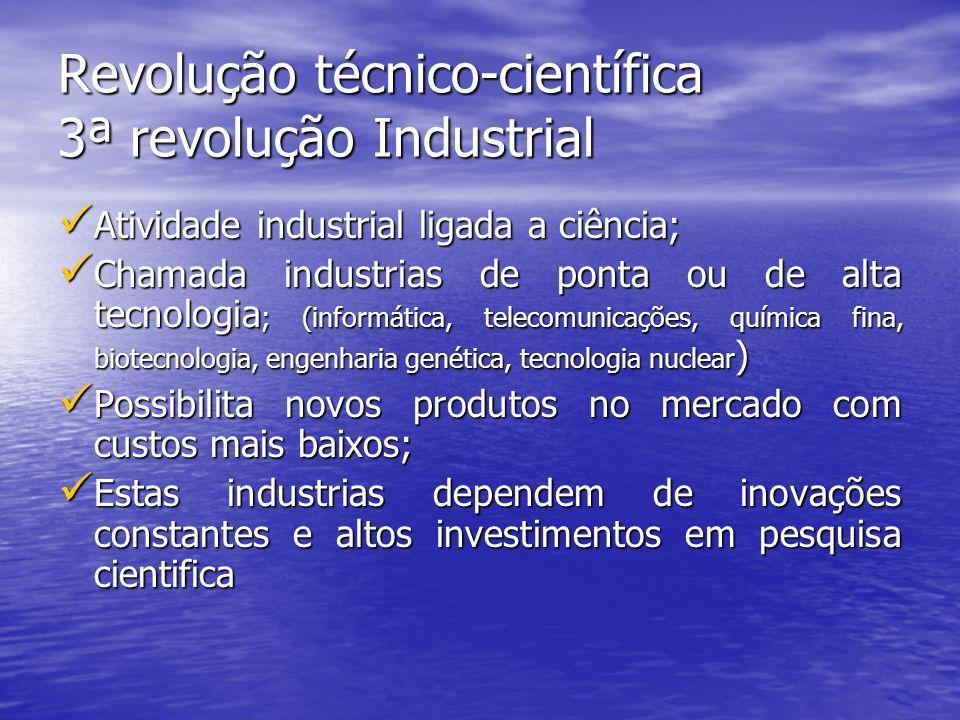 Revolução técnico-científica 3ª revolução Industrial