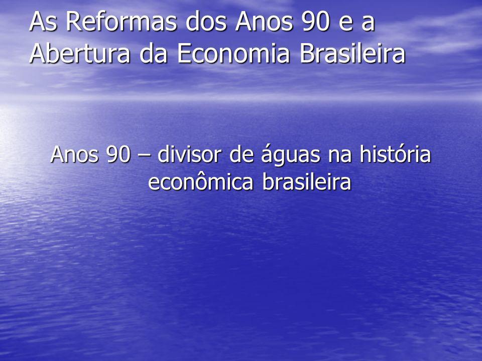 As Reformas dos Anos 90 e a Abertura da Economia Brasileira