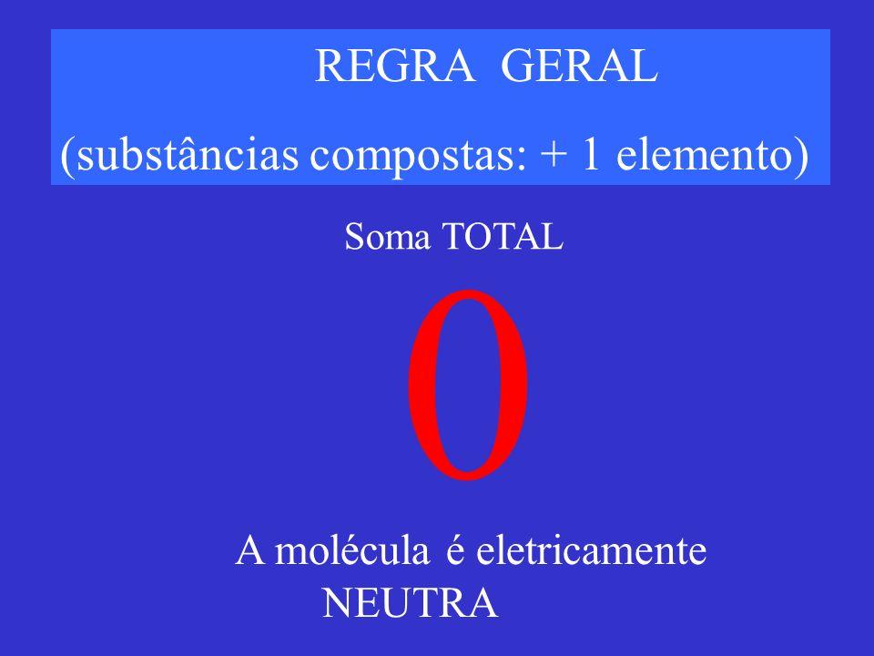 (substâncias compostas: + 1 elemento)
