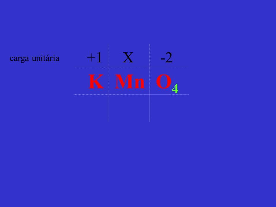 +1 X -2 carga unitária K Mn O4