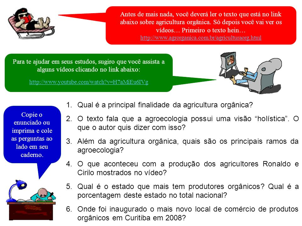 Qual é a principal finalidade da agricultura orgânica