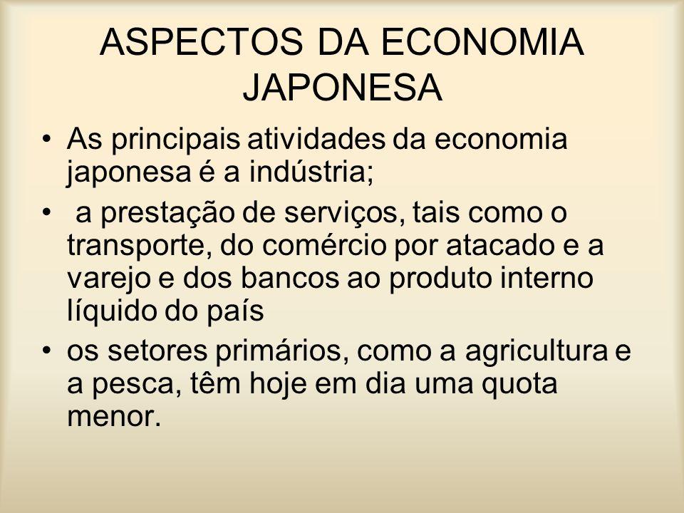 ASPECTOS DA ECONOMIA JAPONESA