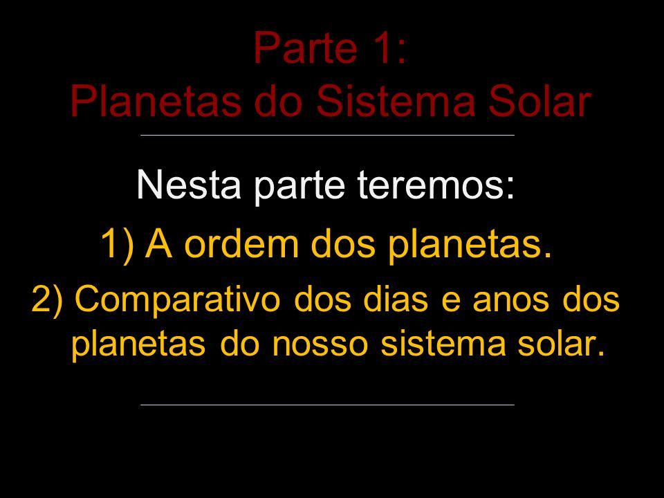 Parte 1: Planetas do Sistema Solar