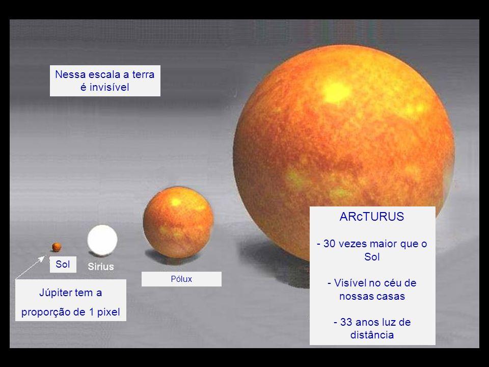 ARcTURUS Nessa escala a terra é invisível - 30 vezes maior que o Sol