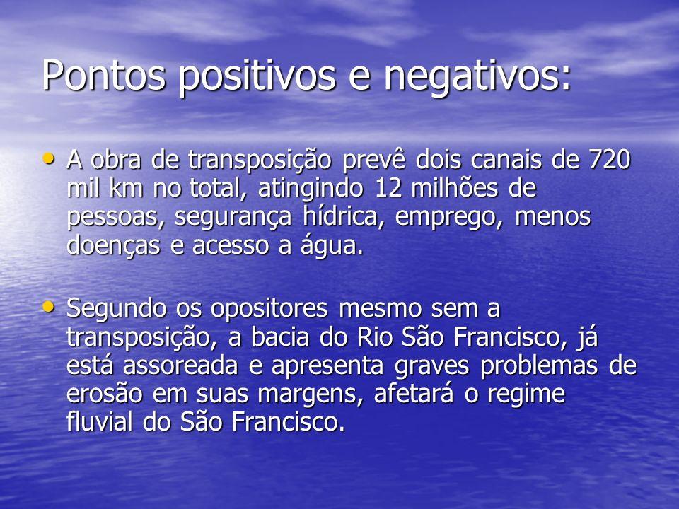Pontos positivos e negativos: