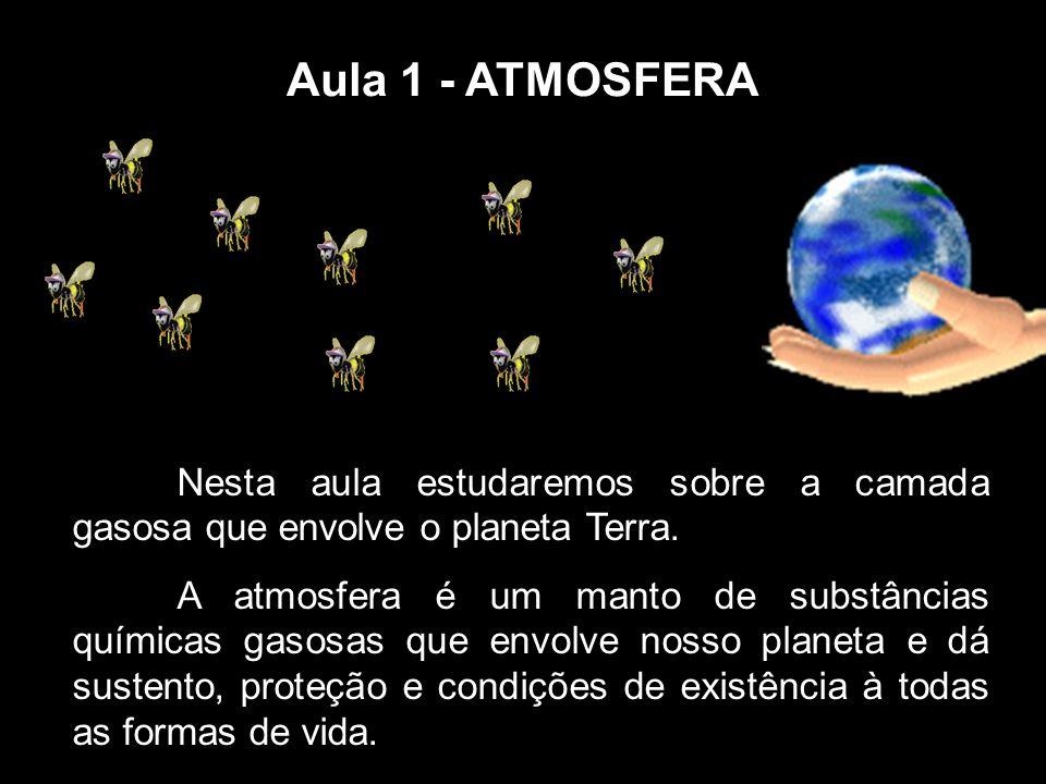 Aula 1 - ATMOSFERA Nesta aula estudaremos sobre a camada gasosa que envolve o planeta Terra.