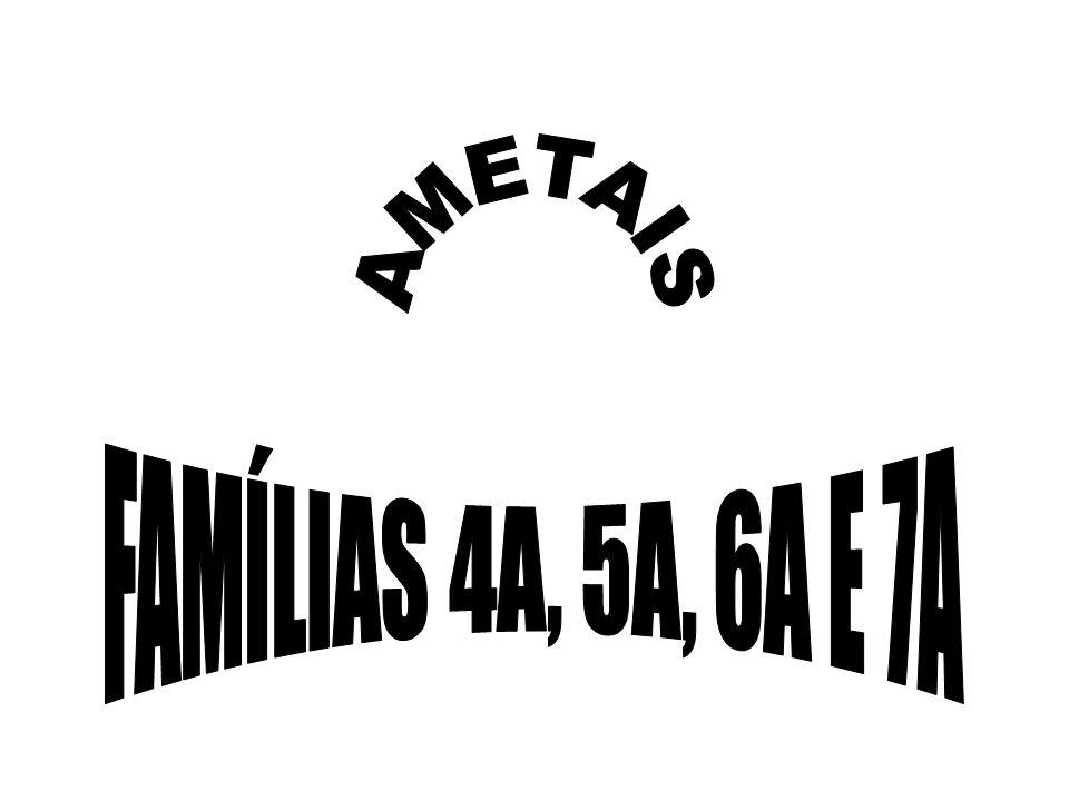 AMETAIS FAMÍLIAS 4A, 5A, 6A E 7A
