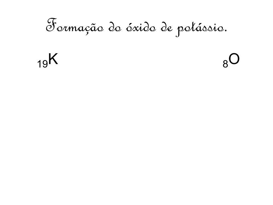 Formação do óxido de potássio.
