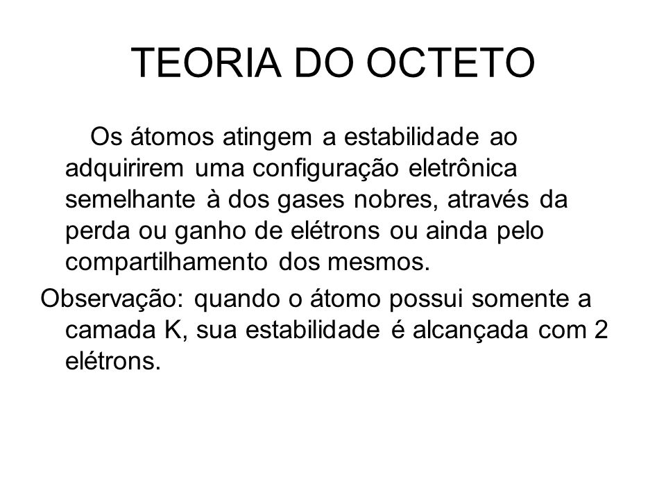 TEORIA DO OCTETO