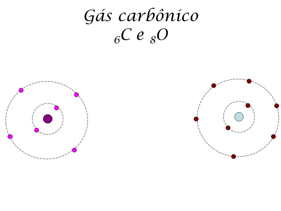 Gás carbônico 6C e 8O