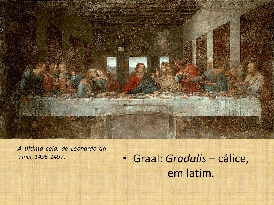 Graal: Gradalis – cálice, em latim.