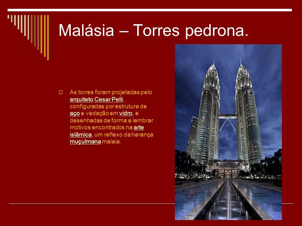 Malásia – Torres pedrona.