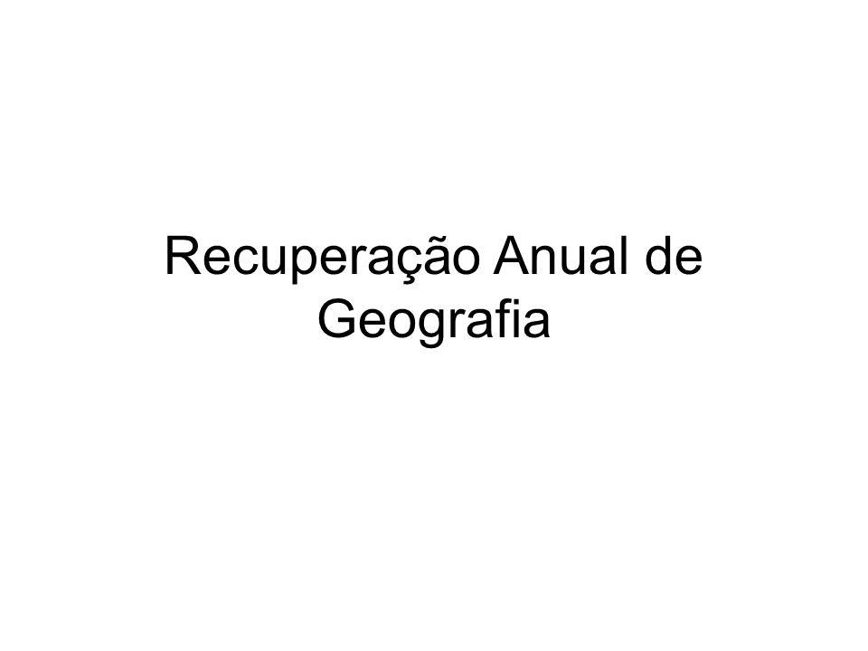 Recuperação Anual de Geografia