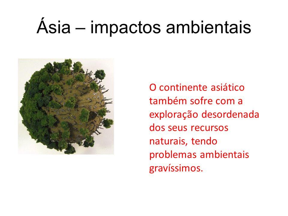 Ásia – impactos ambientais