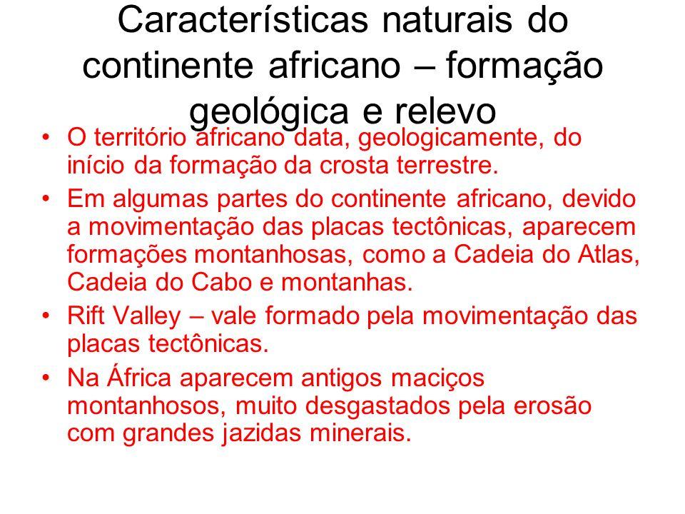Características naturais do continente africano – formação geológica e relevo