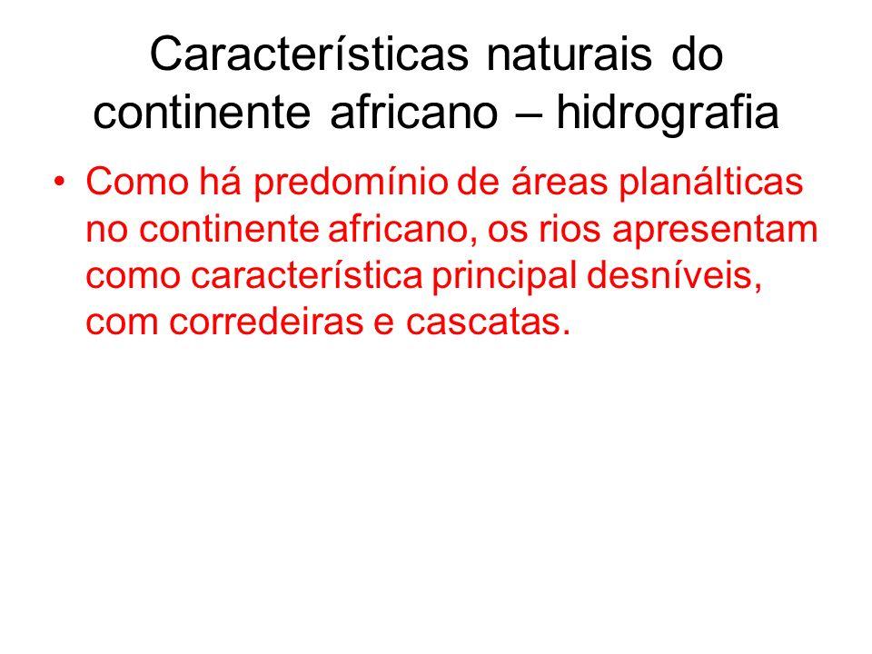 Características naturais do continente africano – hidrografia