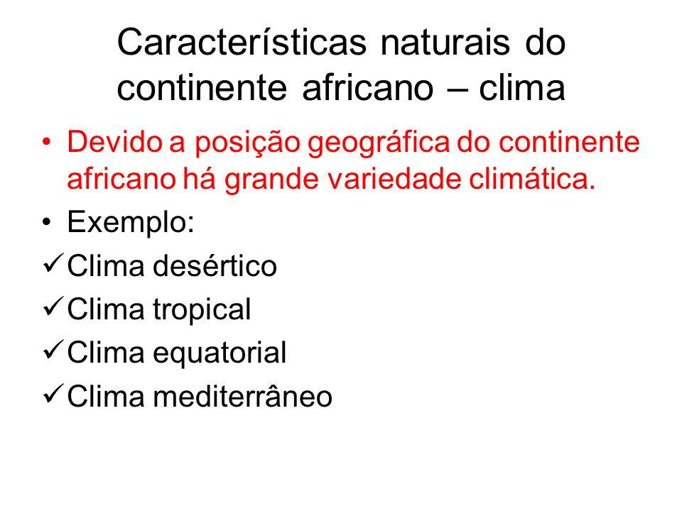 Características naturais do continente africano – clima