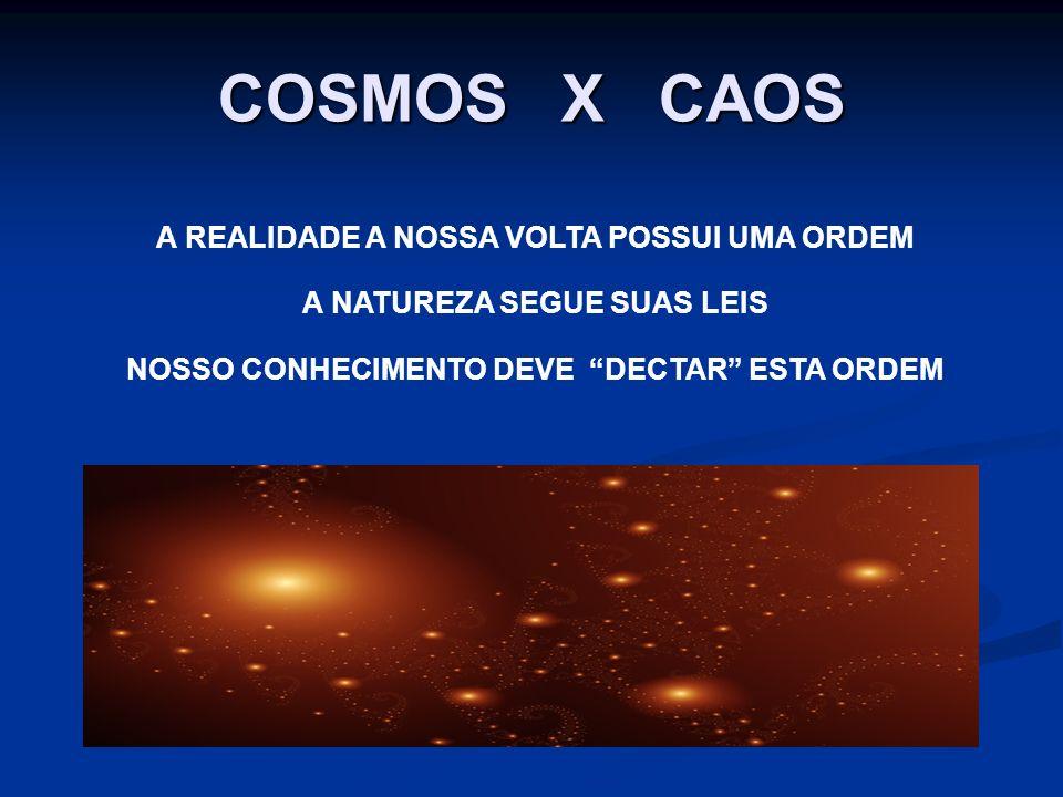 COSMOS X CAOS A REALIDADE A NOSSA VOLTA POSSUI UMA ORDEM