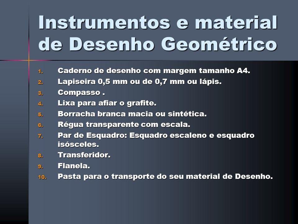 Instrumentos e material de Desenho Geométrico