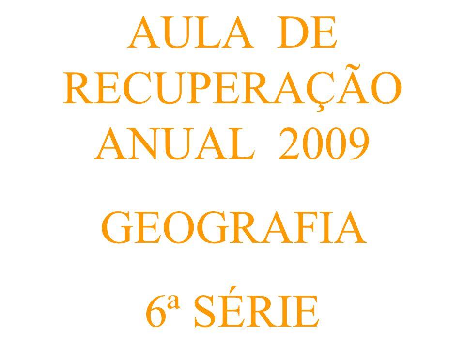 AULA DE RECUPERAÇÃO ANUAL 2009