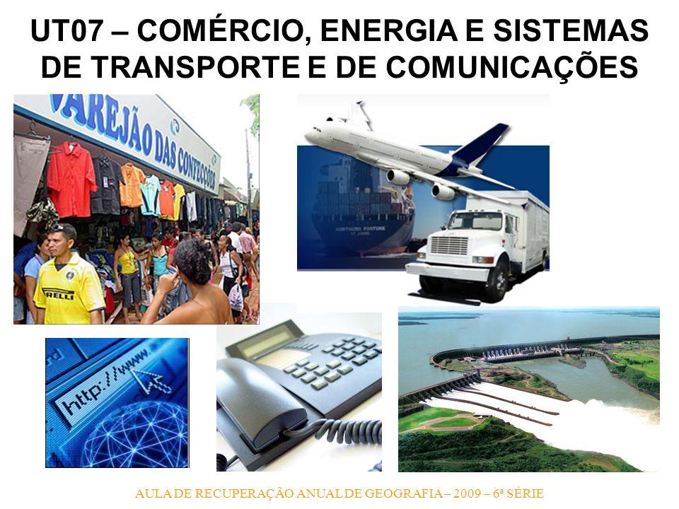 UT07 – COMÉRCIO, ENERGIA E SISTEMAS DE TRANSPORTE E DE COMUNICAÇÕES