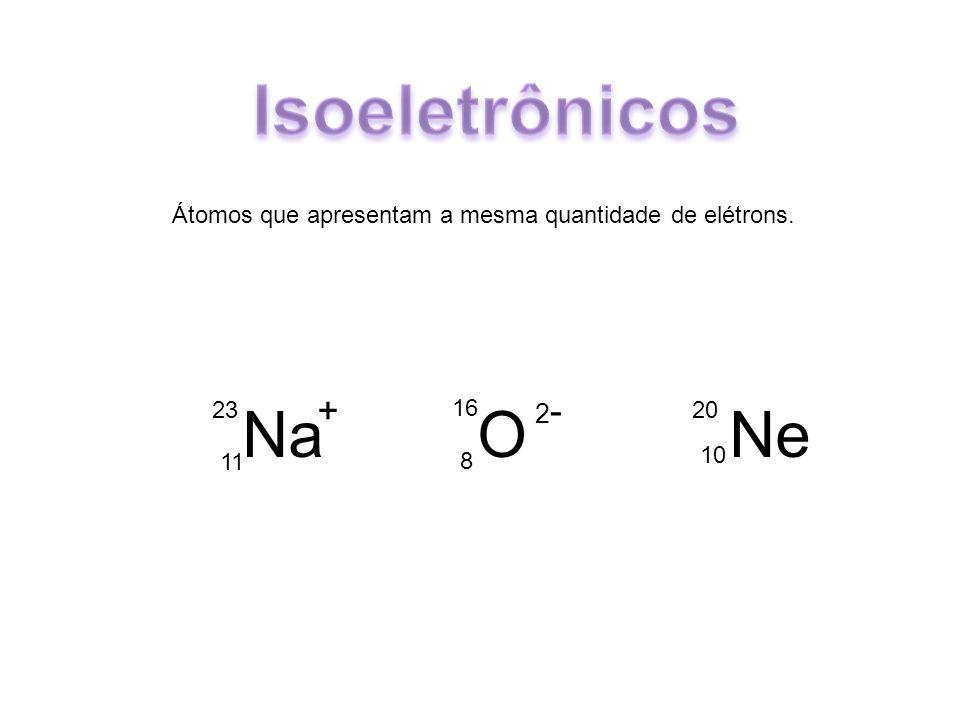 Isoeletrônicos Na O Ne + 2-
