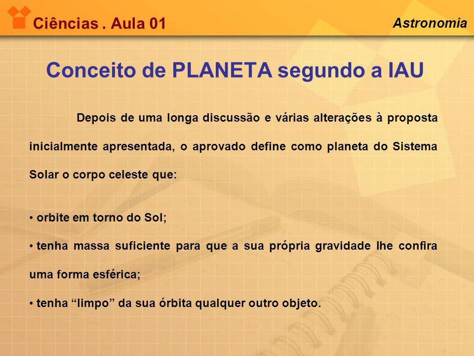 Conceito de PLANETA segundo a IAU