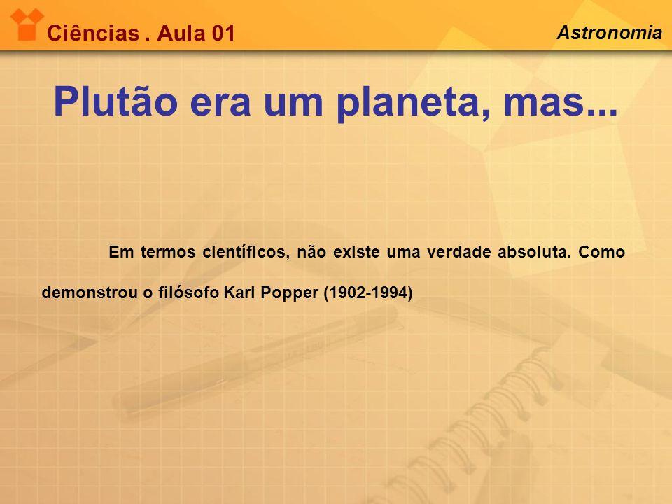 Plutão era um planeta, mas...