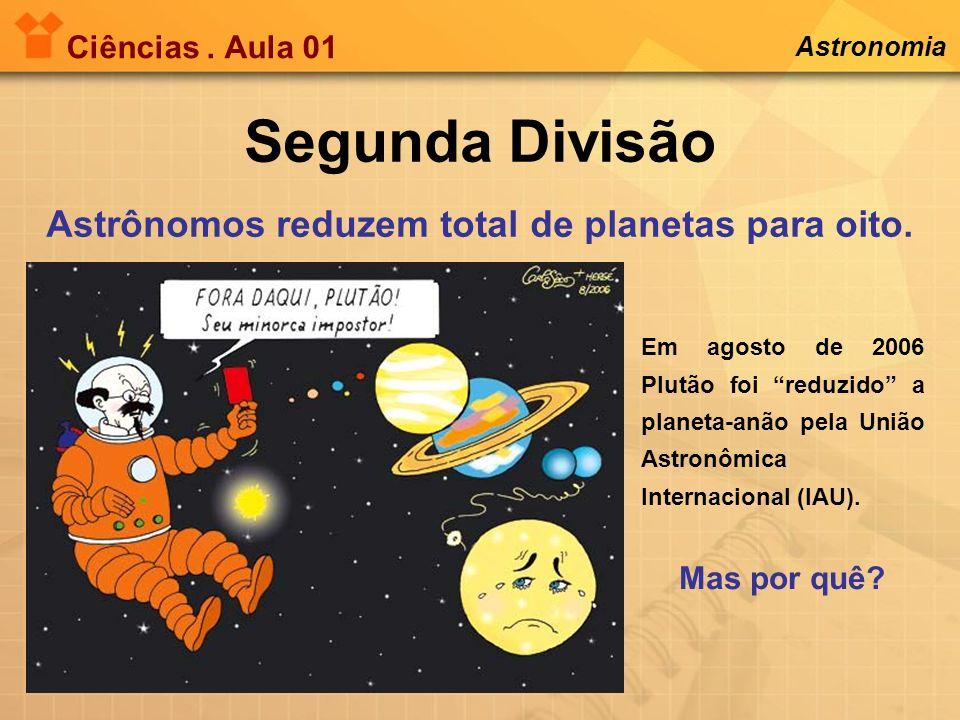 Segunda Divisão Astrônomos reduzem total de planetas para oito.