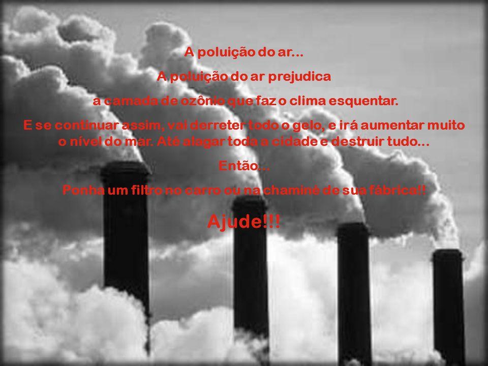 Ajude!!! A poluição do ar... A poluição do ar prejudica