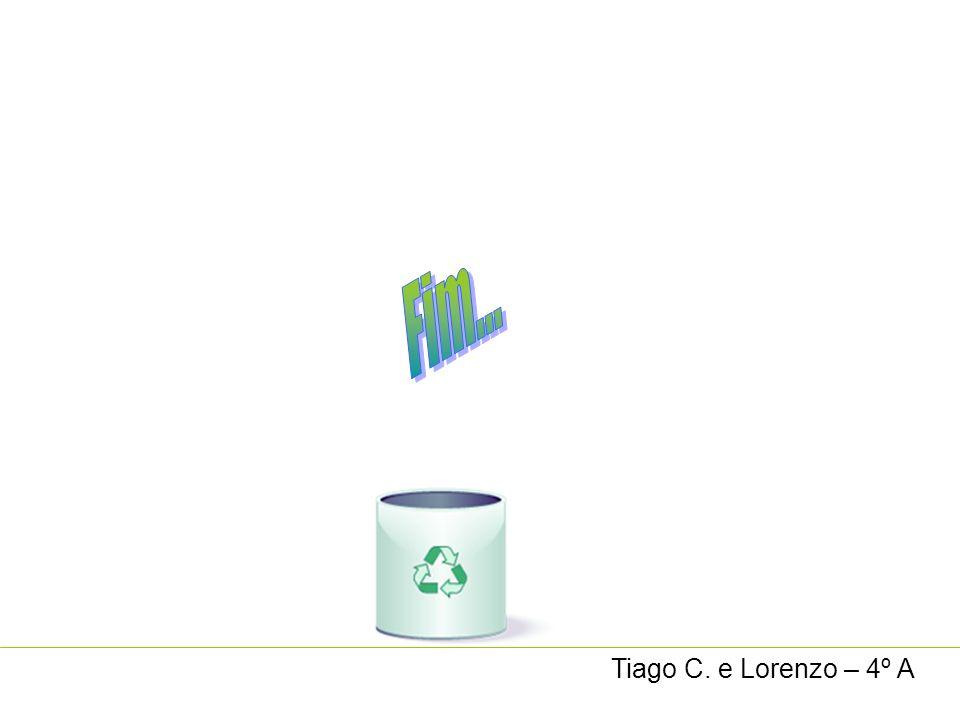 Fim... Tiago C. e Lorenzo – 4º A
