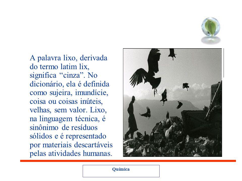 A palavra lixo, derivada do termo latim lix, significa cinza