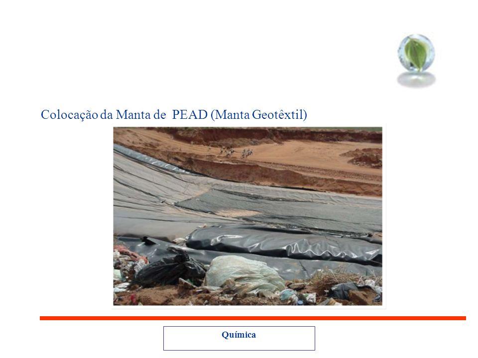 Colocação da Manta de PEAD (Manta Geotêxtil)