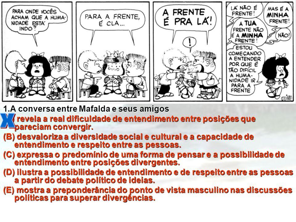 x 1.A conversa entre Mafalda e seus amigos