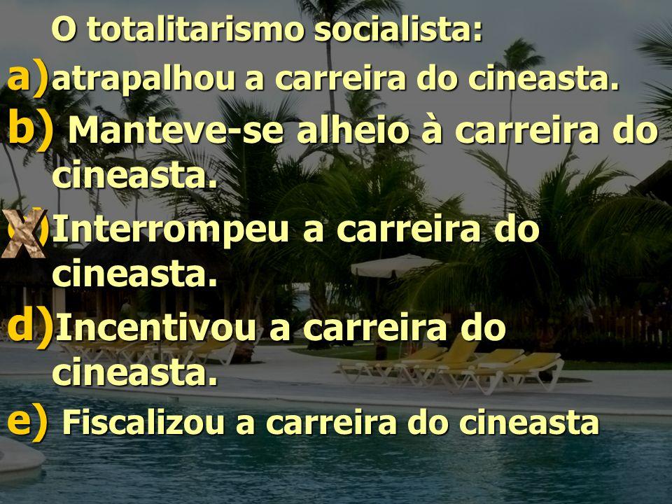 O totalitarismo socialista: Manteve-se alheio à carreira do cineasta.
