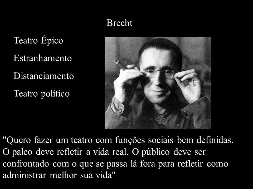 Brecht Teatro Épico. Estranhamento. Distanciamento. Teatro político.
